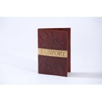 Обложка для паспорта (натуральная кожа) 009-07-07-14