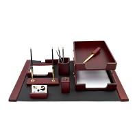 Канцелярский набор для руководителя 9 пр., красное дерево, 9280WDM