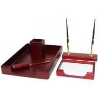 Подарочный настольный набор для кабинета 5 пр., красное дерево, 5138WDM