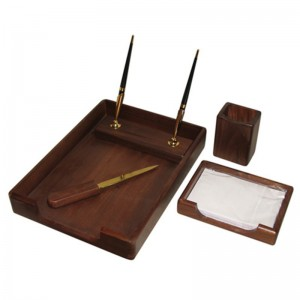 Подарочный настольный набор для кабинета 5 пр., орех, 5138WDN