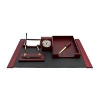 Настольный набор для руководителя 6 пр., красное дерево, 6148XDU