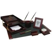 Подарочный настольный набор для офиса 10 пр., красное дерево, 0259XDU