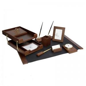 Подарочный настольный набор для кабинета 10 пр., орех, 0259XDX