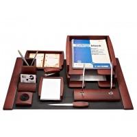 Подарочный настольный набор для кабинета 10 пр., темная вишня, 0293DDV