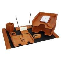Подарочный настольный набор для кабинета 10 пр., светлая вишня, 0293DDY
