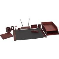 Подарочный настольный набор для офиса 10 пр., красное дерево, 0210WDM