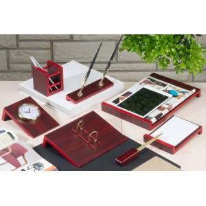 Настольный набор для руководителя Bestar 8 предметов Красное дерево 8141FDU