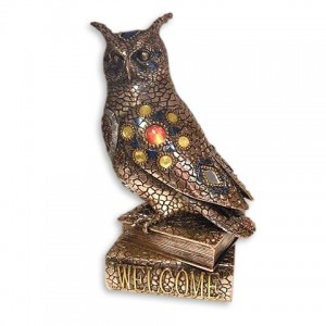 Статуэтка сова на книге (мозаика)