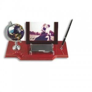 Набор настольный (глобус,фоторамка, визитница, ручка)