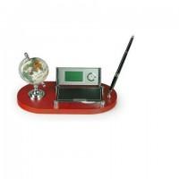 Набор настольный (глобус,календарь, часы, визитница,ручка)