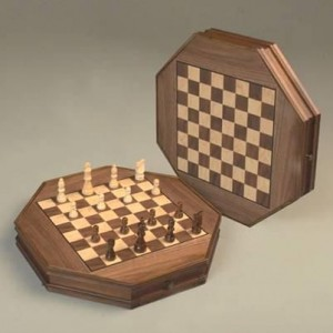 Шахматы восьмигранные CS29-12 на магните