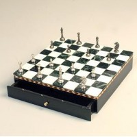 Латунные шахматы на мраморной доске SG1175