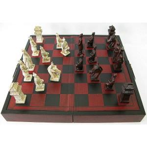 Шахматы большие состаренные под антикварные
