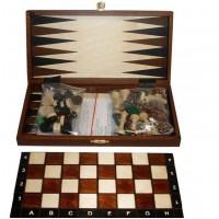 Шахматы 2068 туристические + Шашки + Нарды, коричневые