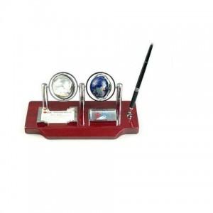 Набор настольный (глобус, часы, ручка, подставки для скрепок, бумаги)