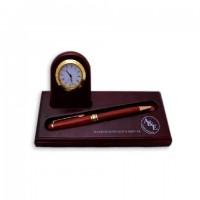 Набор настольный деревянный (часы, без ручки)