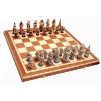 Шахматы 3159 Fantazy Intarsia, коричневые, камень