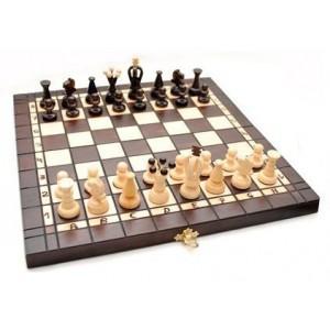 Деревянные шахматы + нарды 3180 коричневые