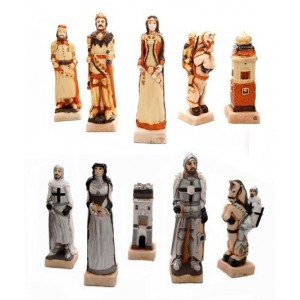 Шахматы 3160 Grunwald Intarsia, коричневые, камень, дерево