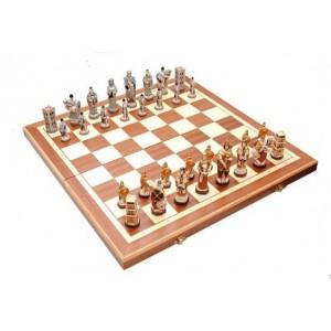 Шахматы 3158 England Intarsia, коричневые, камень