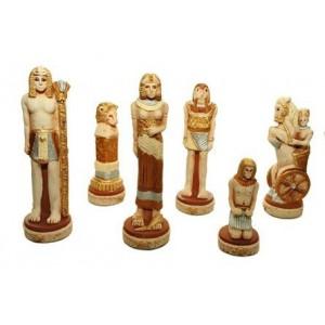 Шахматы 3157 Egipt Intarsia, коричневые, камень