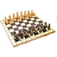 Деревянные шахматы 3132 Pop, коричневые