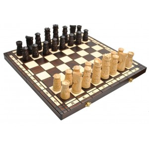 Деревянные шахматы 3124 Muminek, коричневые