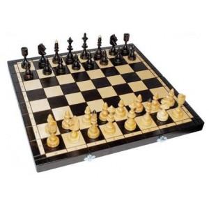 Деревянные шахматы 3123 Indian со вставкой, коричневые