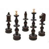 Деревянные шахматы 3120 Old Polish, коричневые