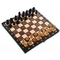 Деревянные шахматы + нарды 3181 туристические, коричневые