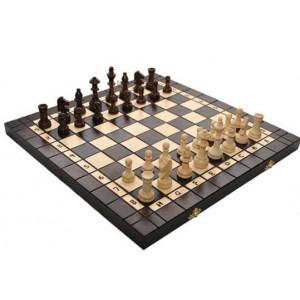 Деревянные шахматы + нарды 3179 большие, коричневые