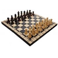 Деревянные шахматы 3178 Intarsia туристические, коричневые