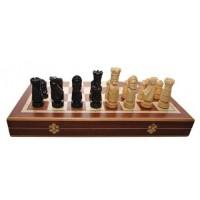 Деревянные шахматы 310605 Large Castle Intarsia, коричневые