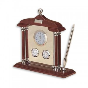 Набор настольный (часы, гигрометр, термометр, ручка)