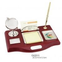 Набор настольный (глобус,ручка, визитница, подставкапод бумагу, под скрепки)