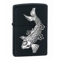 Бензиновая зажигалка Zippo 24713  Black Matte Fish