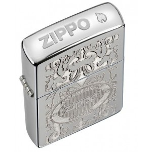 Бензиновая зажигалка Zippo 24751 GLEAMING PATINA HIGH POLISH CHROME