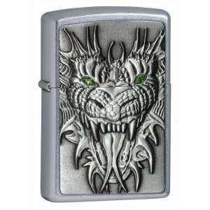 Бензиновая зажигалка Zippo 24901 Green Eyed Monster Emblem Street Chrome