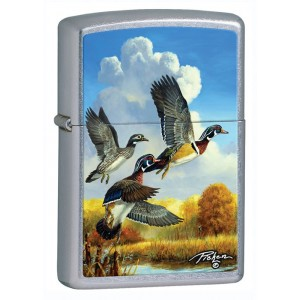 Бензиновая зажигалка Zippo 28009 LINDA PICKEN FLYING DUCKS STREET CHROME