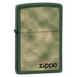 Бензиновая зажигалка Zippo 28036 UNFOCUSED GREEN MATTE