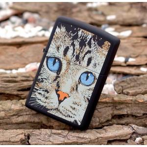 Бензиновая зажигалка Zippo 28040 Blue Eyed Cat