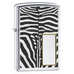 Бензиновая зажигалка Zippo 28046 LIGHTER ZEBRA PRINT POLISHED CHROME