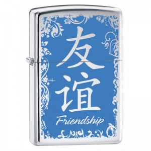 Бензиновая зажигалка Zippo 28065 Chinese Symbol Friendship