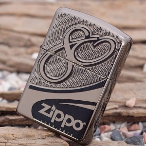 Бензиновая зажигалка Zippo 28249 80th Anniversary Limited Edition Armor Black Chrome