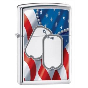Бензиновая зажигалка Zippo 28291 Flag &amp- Dog Tags