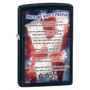 Бензиновая зажигалка Zippo 28315 Military Wifes Prayer