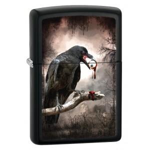 Бензиновая зажигалка Zippo 28319 Goth Raven Eyeball