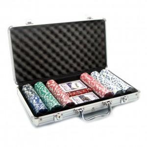 Набор для игры в покер на 300 керамических  фишек