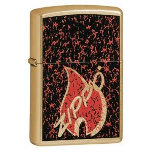 Бензиновая зажигалка Zippo Retro Flame Gold Dust 24193