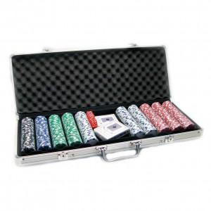 Набор для игры в покер на 500 керамических  фишек